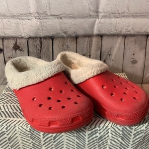 Croc red shoes 2 J 4